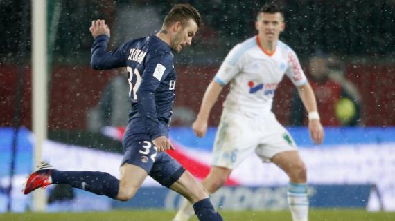 David Beckham sous le maillot du PSG face à l'OM, le 24 février 2013.