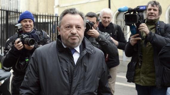 Le président socialiste du conseil général des Bouches-du-Rhône, Jean-Noël Guérini,lors de son arrivée au tribunal de Marseille, le 5 mars 2013.