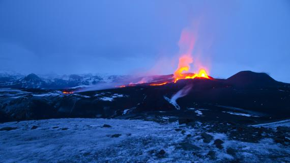 L'éruption du volcan Eyjafjöll (Islande), en avril 2010.