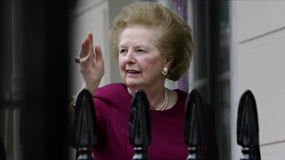 L'ancienne Première ministre britannique, Margaret Thatcher, le 8 mars 2008 à Londres.