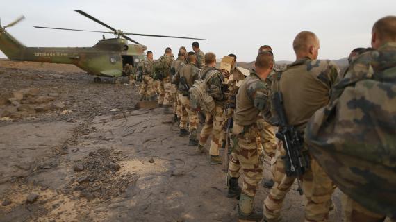Des soldats français dans le massif des Ifoghas (Mali), le 17 mars 2013.