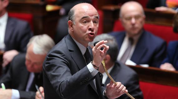 Le ministre de l'Economie et des Finances, Pierre Moscovici, le 2 avril 2013 à l'Assemblée nationale.
