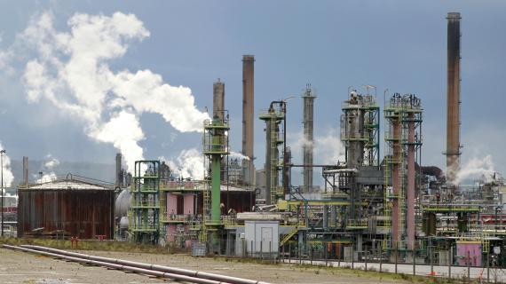 La raffinerie Petroplus de Petit-Couronne (Seine-Maritime), le 5 novembre 2012.