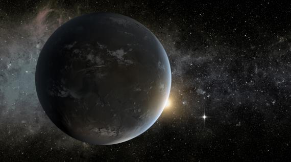 Visualisation de Kepler-62f, l'une des planètes découvertes par des chercheurs de la NASA, fournie le 18 avril 2013.