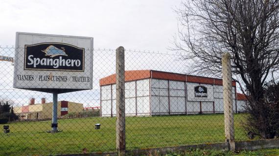 Un entrepôt du groupe Spanghero, à Castelnaudary (Aude), le 10 février 2013.