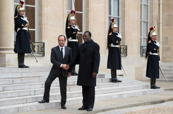 François Hollande et Idriss Déby, président du Tchad, le 5 décembre 2012, à l'Elysée.