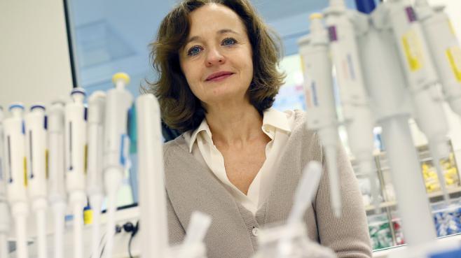 La chercheuse Marina Cavazzana-Calvo, le 11 février 2013 à l'hôpital Necker, à Paris.