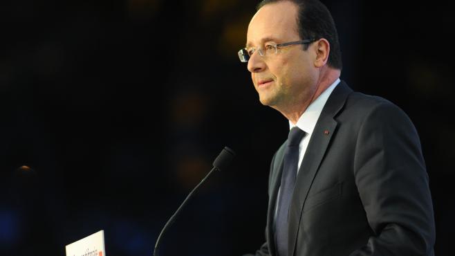 Le président de la République, François Hollande, en visite officielle à Shanghaï (Chine), le 26 avril 2013.