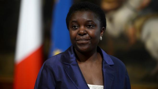 Cécile Kyenge,ministre italienne de l'Intégration, le28 avril 2013 à Rome (Italie).