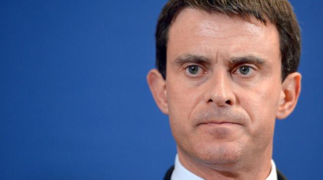 Le ministre de l'Intérieur, Manuel Valls, à Evry(Essonne), le 27 mars 2013.