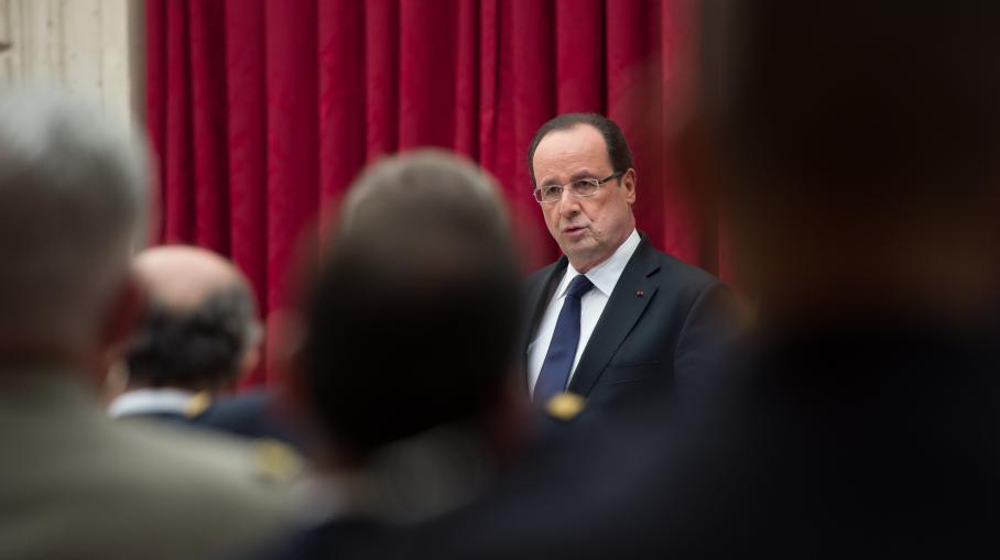 François Hollande, le 29 avril 2013 au palais de l'Elysée.