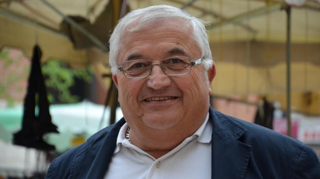 Bernard Barral, candidat à l'investiture socialiste, le 4 mai 2013 à Villeneuve-sur-Lot (Lot-et-Garonne).