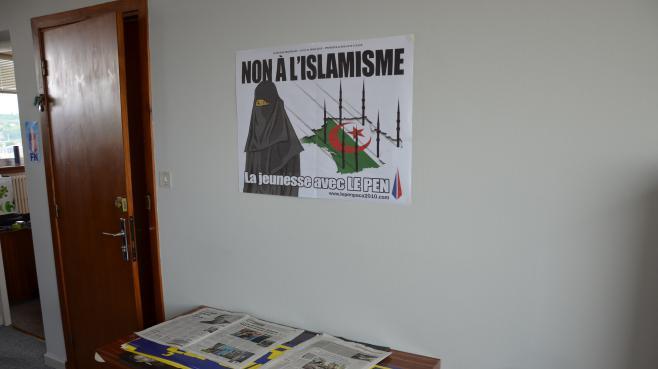 Le nouveau local du Front national à Agen(Lot-et-Garonne), le 3 mai 2013.