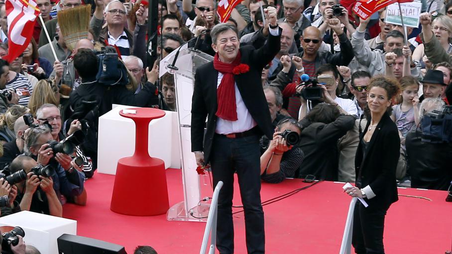 Jean-Luc Mélenchon,place de la Bastille, à Paris, le 5 mai 2013.