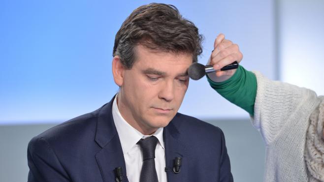 Le ministre du Redressement productif, Arnaud Montebourg, avant une émission sur France 5, le 14 avril 2013.