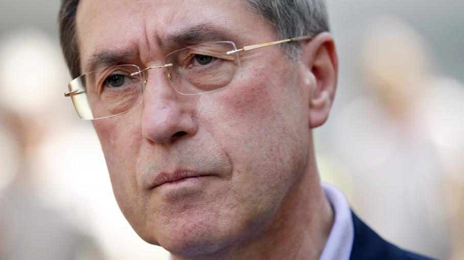 Claude Guéant, l'ex-ministre de l'Intérieur,le 27 mai 2012 à Boulogne-Billancourt (Hauts-de-Seine).