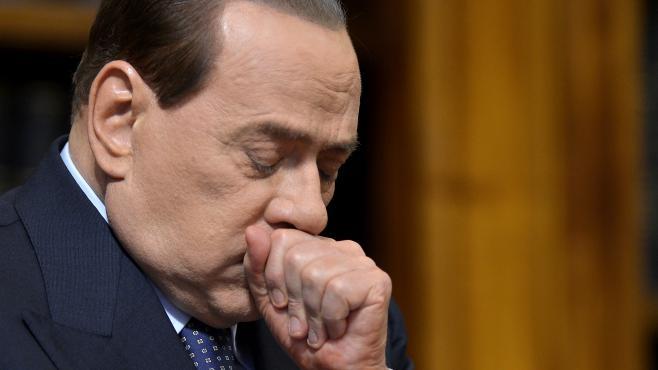 Silvio Berlusconi, lors d'une conférence de presse, à Rome (Italie), le 25 mai 2012.