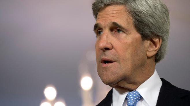 Le secrétaire d'Etat américain John Kerrylors d'une conférence de presse à Washington, le 10 mai 2013.