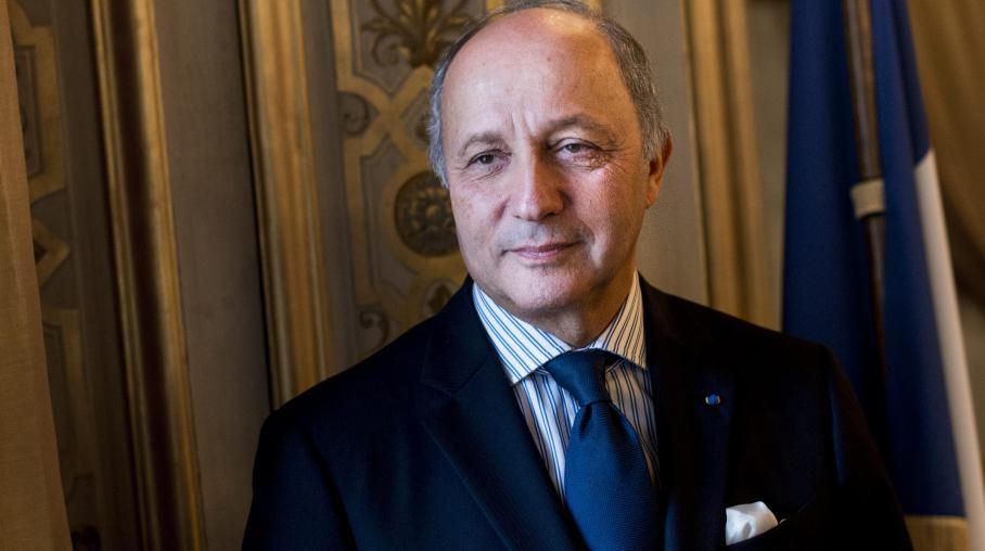 Le ministre des Affaires étrangères, Laurent Fabius, le 4 février 2013 au Quai d'Orsay, à Paris.