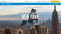 "Capture d'écran de la page ""New York"" du site internet de location d'appartements entre particuliers Airbnb."
