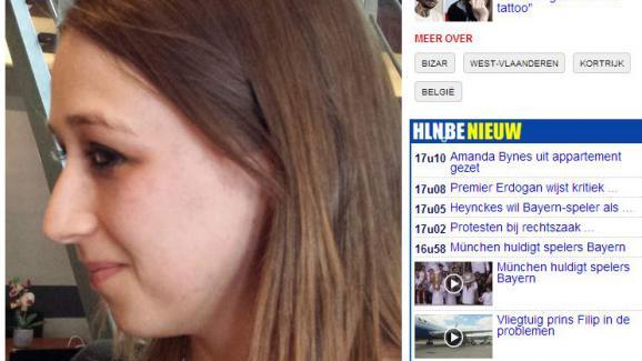 une belge se fait retirer au laser 56 étoiles tatouées sur son visage