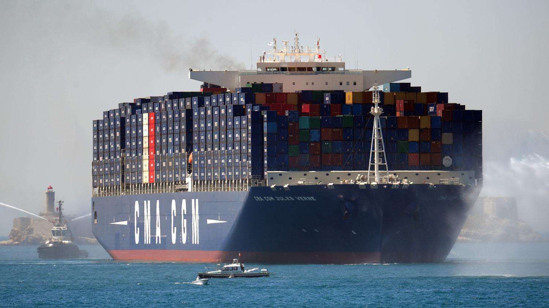 Video a bord du jules verne le plus grand porte conteneurs du monde - Le plus gros porte conteneur ...
