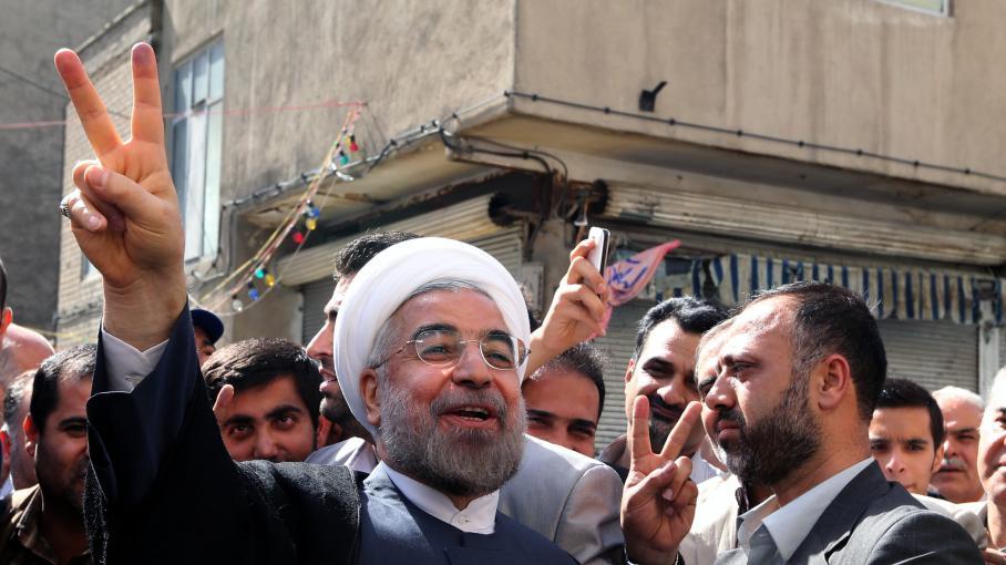 Hassan Rohani, le 14 juin 2013 à Téhéran (Iran).