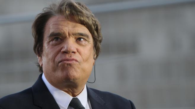 L'homme d'affaires Bernard Tapie, le 26 mai 2013 au stade Vélodrome de Marseille (Bouches-du-Rhône).