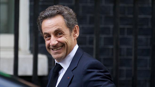 Nicolas Sarkozy au10Downing Street, la résidence du Premier ministre britannique, à Londres (Royaume-Uni), le 3 juin 2013.