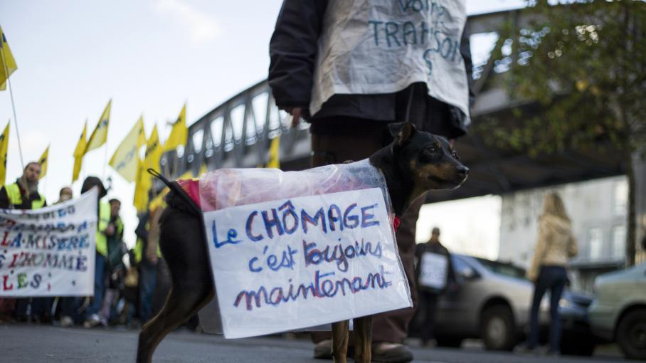 Dans une manifestation contre le chômage, le 1er décembre 2012 à Paris.