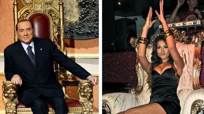 Silvio Berlusconi et Karima El Mahroug, surnommée Ruby.
