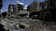 Une rue ravagée d'Alep, dans le nord de la Syrie, le 18 juin 2013.