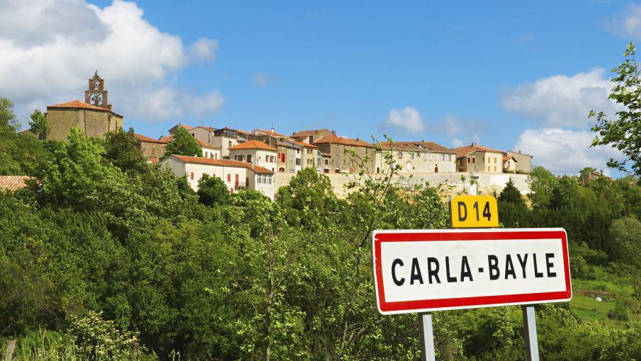 Le village de Carla-Bayle (Ariège) où Laurent Fabius possède une résidence secondaire.