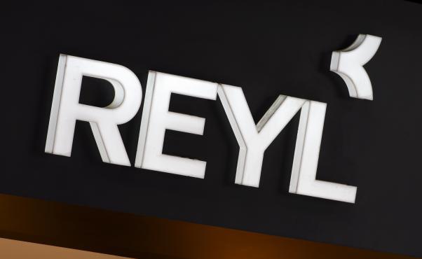 Le logo de la banque Reyl, le 15 juin 2013 à Genève (Suisse).