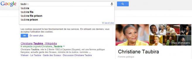 Capture d'écran des suggestions du moteur de recherche Google, réalisée le 10 septembre 2013.