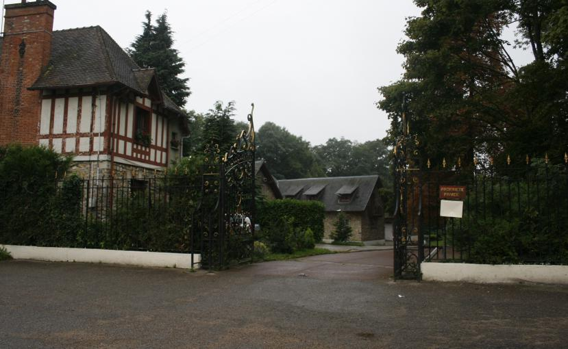 La propriété de Rifaat Al-Assad, à Bessancourt, dans le Val-d'Oise, le 13 septembre 2013.