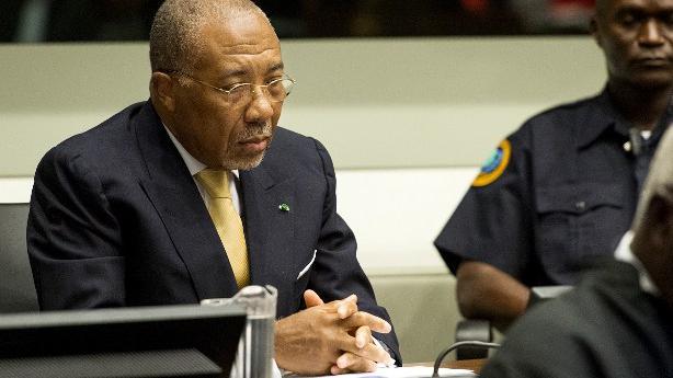 L'ancien président du Libéria, Charles Taylor, devant le tribunal spécial pour le Sierra Leone, à La Haye (Pays-Bas), jeudi 26 septembre 2013.