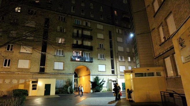 Les immeubles de la cité de Boulogne-Billancourt (Hauts-de-Seine), où quatre familles sont en cours d'expulsion, le 10 janvier 2013.