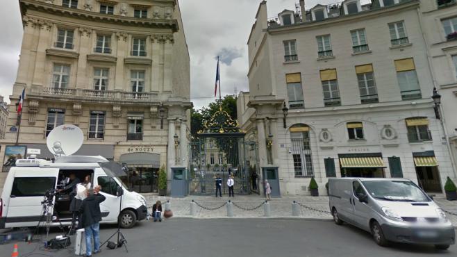 L'entrée du ministère de l'Intérieur, place Beauvau, dans le 8e arrondissement de Paris.