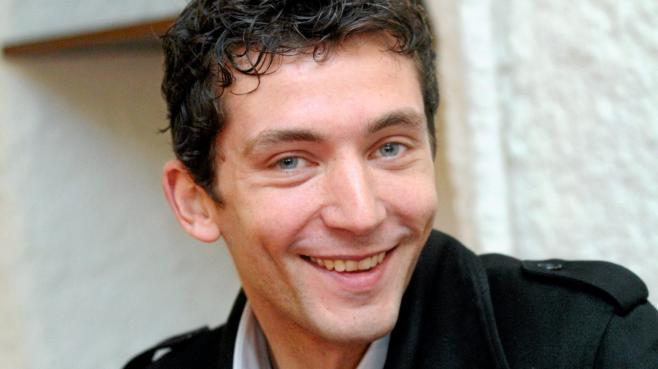 Le conseiller régional FN de Languedoc-Roussillon Julien Sanchez, le 17 mars 2012, à Nîmes (Gard).