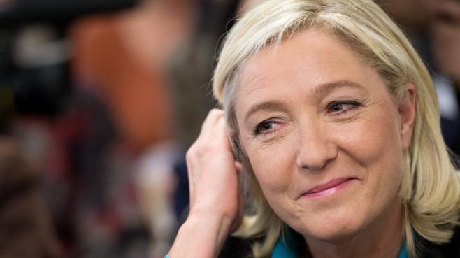 La présidente du Front national, Marine Le Pen, lors d'une conférence de presse à Paris, le 12 octobre 2013.
