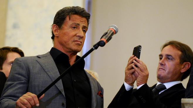L'acteur américain Sylvester Stallone, le 27 octobre 2013 au musée russe de Saint-Petersbourg.