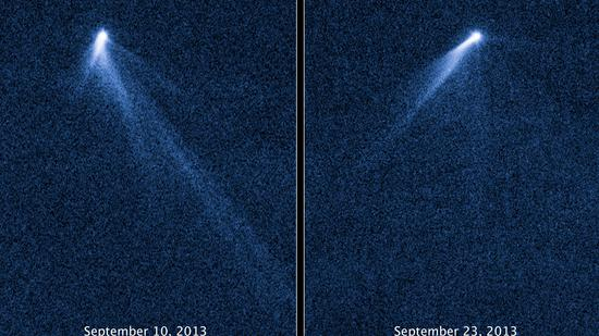 L'astéroïde P/2013 P5,observé avec le télescope spatial Hubble et pris en photo par la Nasa.