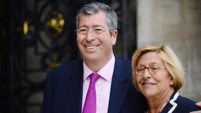 Le député-maire UMP de Levallois-Perret (Hauts-de-Seine), Patrick Balkany, et son épouse Isabelle Balkany, à Neuilly-sur-Seine (Hauts-de-Seine), le 16 avril 2013.