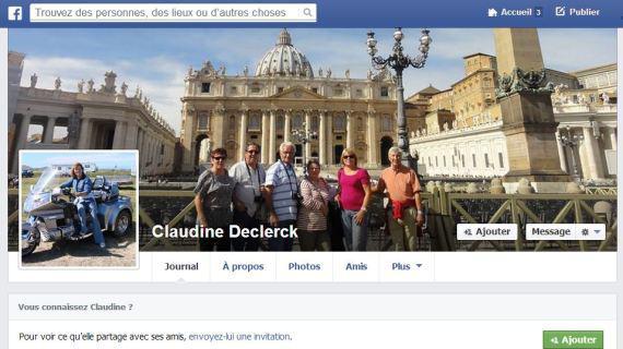 Capture d'écran de la page facebook de Claudine Declerck, conseillère municipale UMP de Combs-la-Ville (Seine-et-Marne), vendredi 15 novembre 2013.
