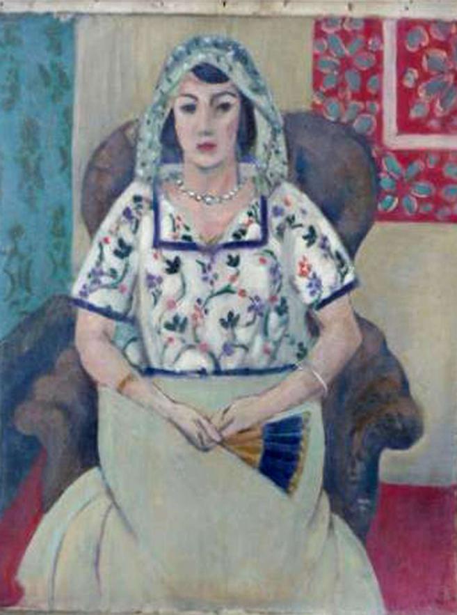 Photographie de la Femme assise de Matisse, retrouvée dans un appartement munichois.