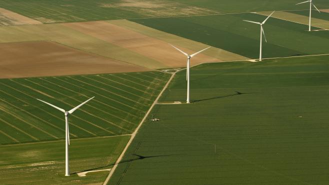 Un parc éolien à Toury (Eure-et-Loire).