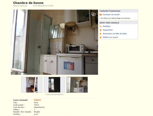 Immobilier la recherche des pires studettes de paris for Le bon coin paris decoration