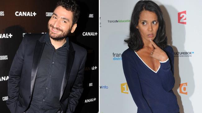 Les animateurs Mouloud Achour et Sophia Aram ont été distingués aux Gérard de la télévision, le 13 janvier 2014.