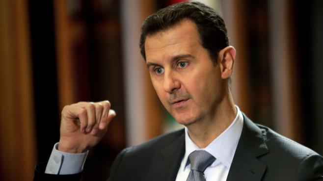 Bachar Al-Assad, le 19 janvier 2014, lors d'un entretien avec l'AFP, au palais présidentiel syrien, à Damas.